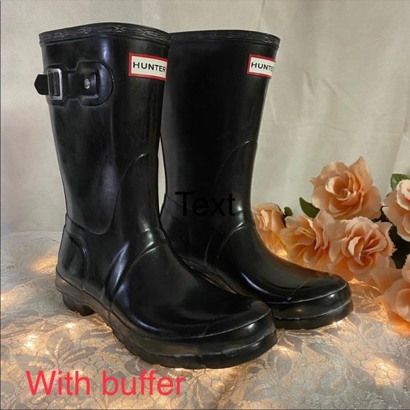 🌸 Hunter Matte Black MidCalf Waterproof Rain Boot